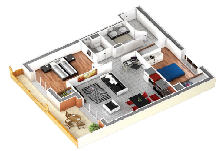 plan appartement 3d interesting plan appartement 3d with plan appartement 3d interesting. Black Bedroom Furniture Sets. Home Design Ideas
